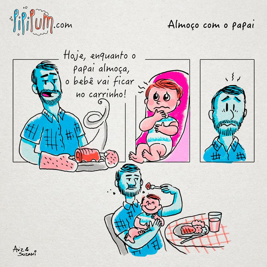 almoço com papai